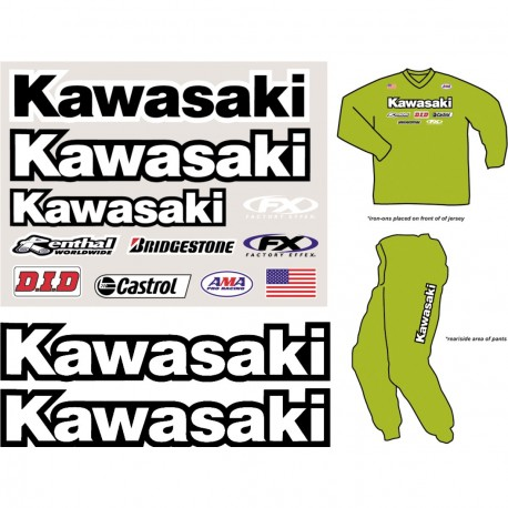 Factory Rider Iron On-Kawasaki
