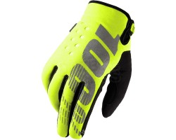 "Guantes 100% Brisker Neopreno ""Cold Weather""Amarillo Fluo"