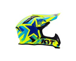 CASCO KYT STRIKE EAGLE PATRIOT AZUL/AMARILLO FLUOR