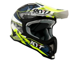 CASCO KYT STRIKE EAGLE WEB BLANCO/AZUL