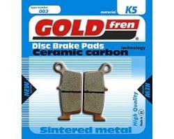 Pastillas de Freno Goldfren Sintetizadas ceramica carbon Traseras GAS GAS /KAWASAKI/ YAMAHA/SHERCO