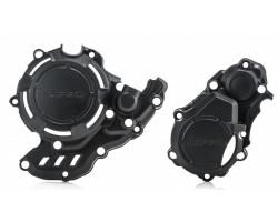 KIT PROTECCIONES MOTOR ACERBIS X-POWER KTM EXC-F 17-19 / HUSQVARNA FE 250/350 17-19 NEGRO