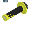 PUÑOS PRO TAPER CLAMP-ON GRIP HALF WAFFLE NEON YELLOW/ BLACK