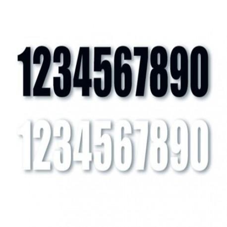 Números Negros para dorsales