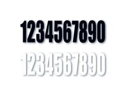 Números Blancos para dorsales